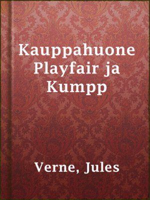 cover image of Kauppahuone Playfair ja Kumpp