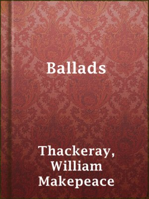 cover image of Ballads