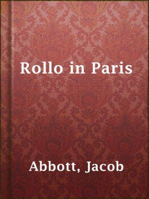 cover image of Rollo in Paris