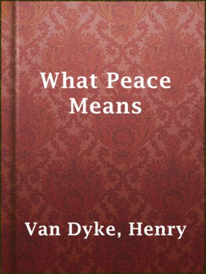 cover image of What Peace Means