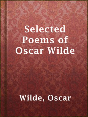 cover image of Selected Poems of Oscar Wilde
