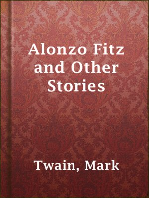 cover image of Alonzo Fitz and Other Stories