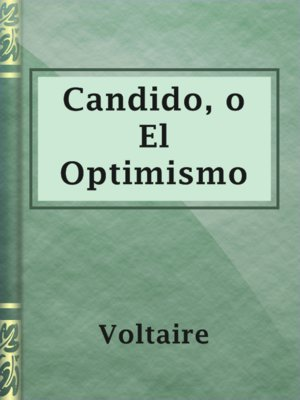 cover image of Candido, o El Optimismo