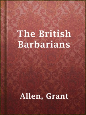 cover image of The British Barbarians