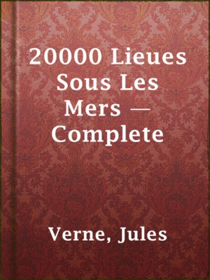 cover image of 20000 Lieues Sous Les Mers — Complete