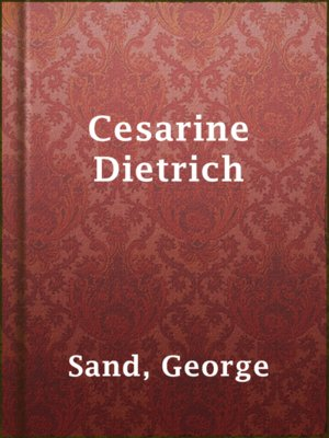 cover image of Cesarine Dietrich