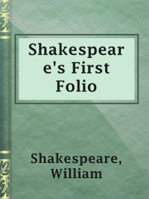 cover image of Shakespeare's First Folio