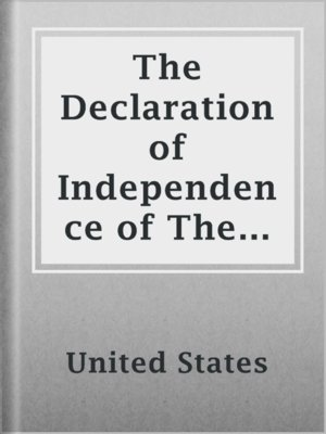 cover image of The Declaration of Independence of The United States of America