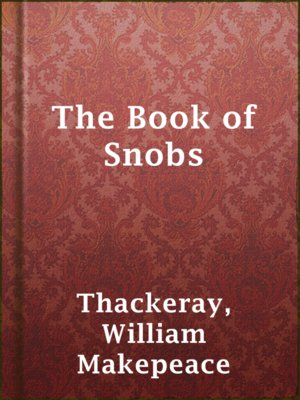 cover image of The Book of Snobs