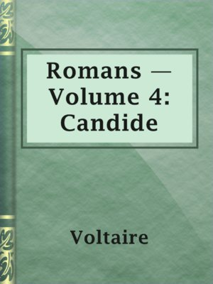 cover image of Romans — Volume 4: Candide