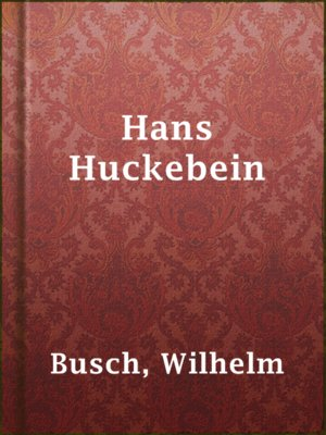 cover image of Hans Huckebein