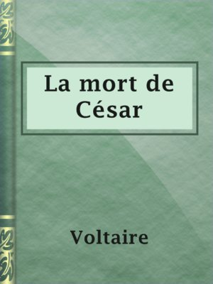 cover image of La mort de César