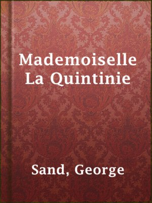 cover image of Mademoiselle La Quintinie