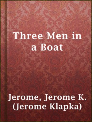 cover image of Three Men in a Boat