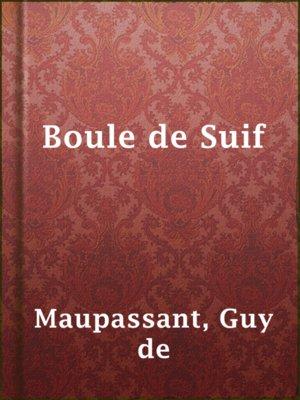 cover image of Boule de Suif