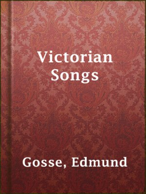 cover image of Victorian Songs