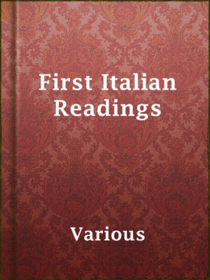 cover image of First Italian Readings