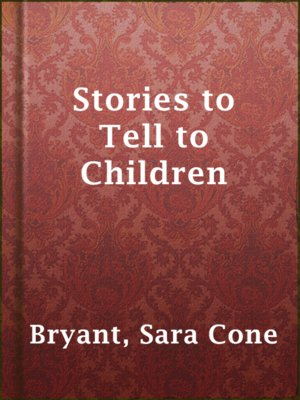 cover image of Stories to Tell to Children