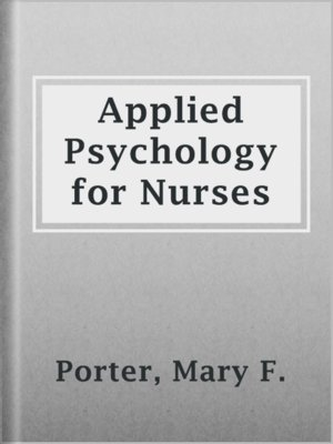 cover image of Applied Psychology for Nurses