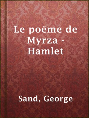 cover image of Le poëme de Myrza - Hamlet