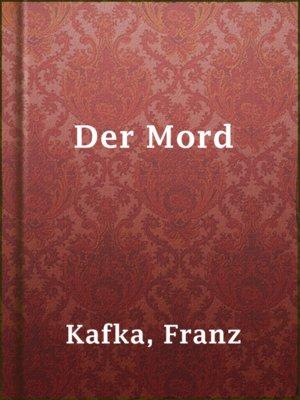 cover image of Der Mord