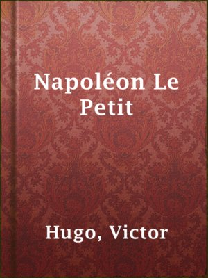 cover image of Napoléon Le Petit