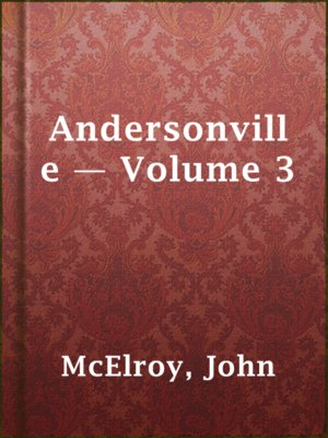 cover image of Andersonville — Volume 3