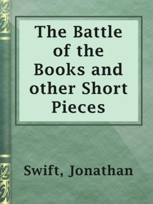 cover image of The Battle of the Books and other Short Pieces