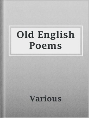 cover image of Old English Poems