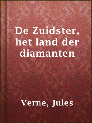 cover image of De Zuidster, het land der diamanten