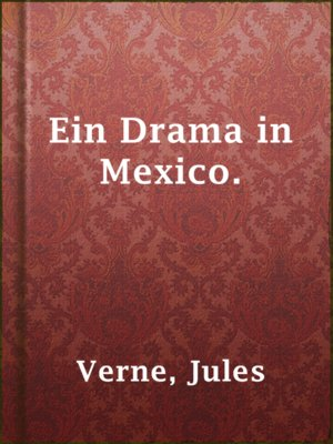 cover image of Ein Drama in Mexico.