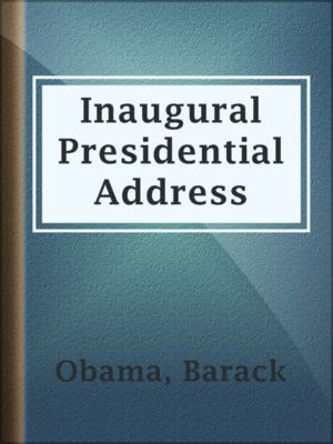 cover image of Inaugural Presidential Address