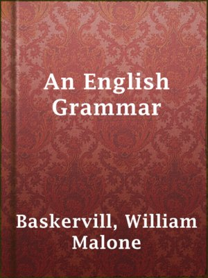 cover image of An English Grammar