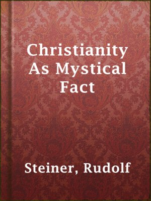 cover image of Christianity As Mystical Fact