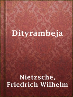 cover image of Dityrambeja