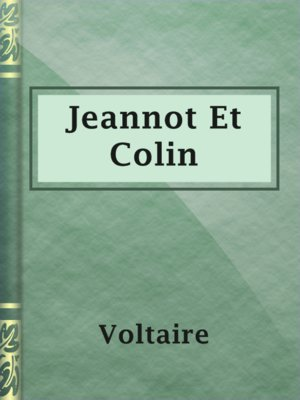 cover image of Jeannot Et Colin