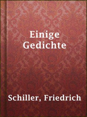 cover image of Einige Gedichte