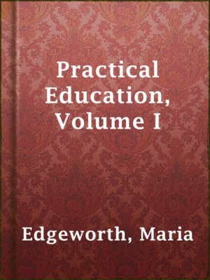 cover image of Practical Education, Volume I