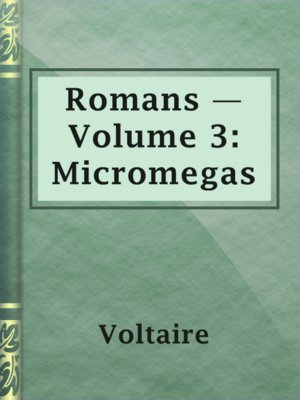 cover image of Romans — Volume 3: Micromegas