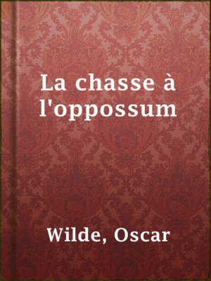 cover image of La chasse à l'oppossum