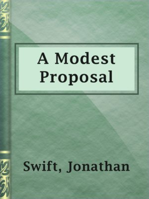 cover image of A Modest Proposal