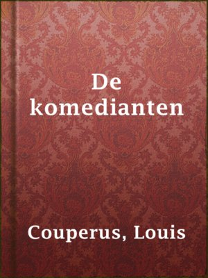 cover image of De komedianten