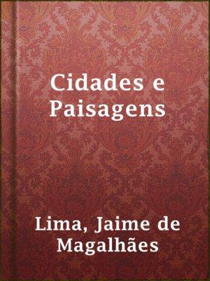 cover image of Cidades e Paisagens