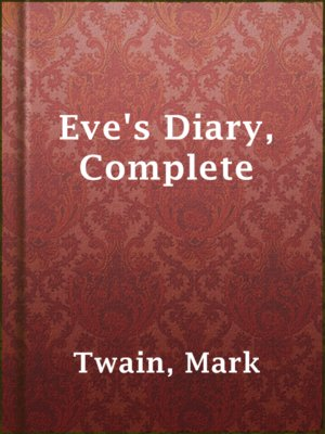 cover image of Eve's Diary, Complete