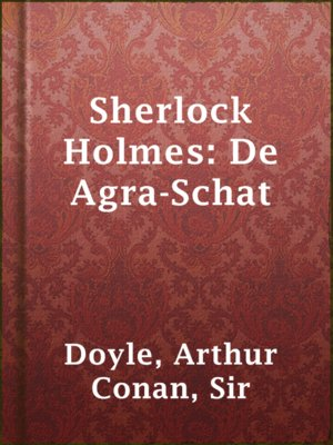 cover image of Sherlock Holmes: De Agra-Schat
