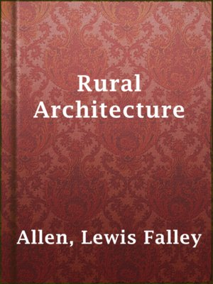 cover image of Rural Architecture