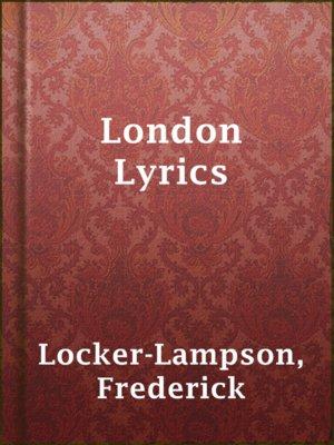 cover image of London Lyrics