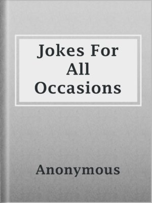 cover image of Jokes For All Occasions