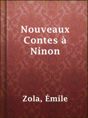 cover image of Nouveaux Contes à Ninon