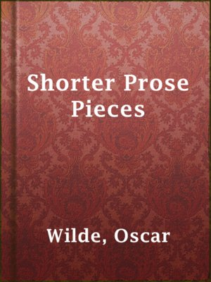 cover image of Shorter Prose Pieces